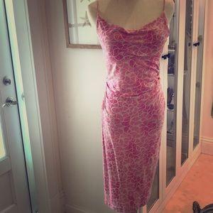 Diane von Furstenberg pink silk dress size 4